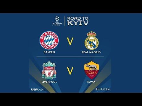 Roma Vs Liverpool e Bayern Monaco Vs Real Madrid – I Sorteggi delle Semifinali di Champions League