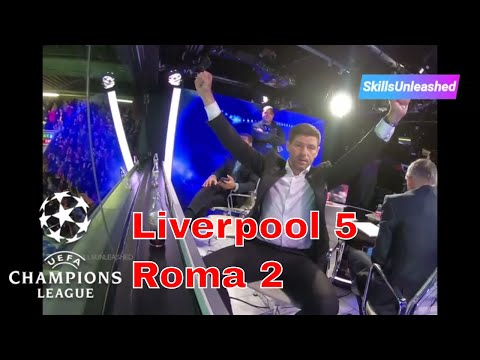 UCL Liverpool 5-2 Roma – Watch All 7 Goals & Reactions (Fan and Studio) Gerrard, Lampard, Ferdinand
