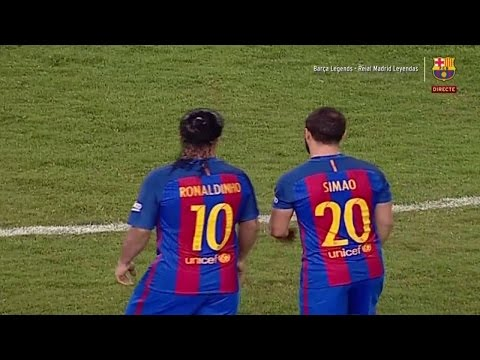 Barcelona Legends vs Real Madrid Legends 3-2 All Goals & Highlights. 29/4/2017