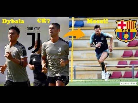Football Stars Training For The New Season Ft. Ronaldo First Training With Juventus