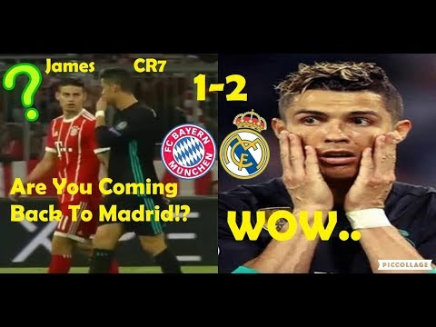 PLAYERS REACTION TO BAYERN MUNICH VS REAL MADRID 1-2 2018 FT. RONALDO & JAMES
