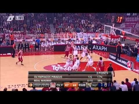 olympiakos vs real madrid 78-76 3rd game 2014 euroleague playoff