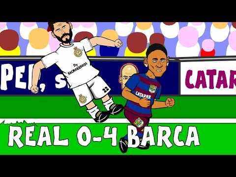 Real Madrid vs FC Barcelona 0-4 2015 – goals and highlights of El Clasico! (Parody 21.11.15)