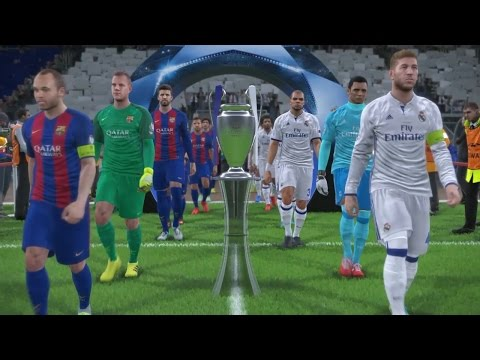 PES 2017 UEFA Champions League Final (Real Madrid vs FC Barcelona Gameplay)