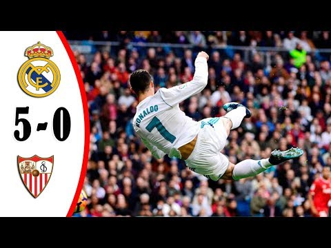 Real Madrid vs Sevilla 5-0 Full Highlights (Spain Commentary) 09/12/2017 HD