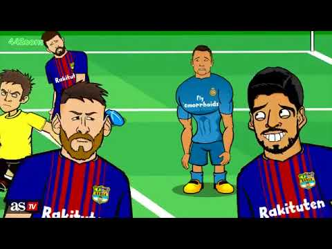 Parodia del clasico Barcelona vs Real Madrid 1 – 3