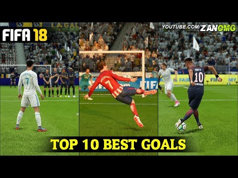 FIFA 18 | TOP 10 BEST GOALS | FT. RABONA, BICYCLE KICK, SCORPION GOALS & MORE!!! #1