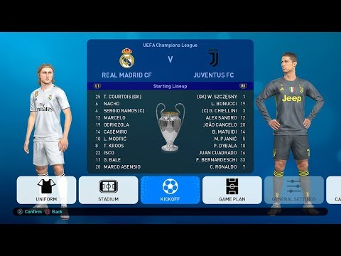 PES 2019 UEFA Champions League Final Real Madrid v Juventus Full Match