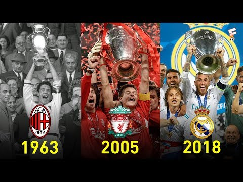 UEFA Champions League Winners 1956 – 2018 ⚽ Footchampion