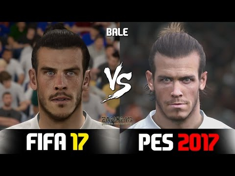 FIFA 17 vs PES 2017 Real Madrid Players Faces Comparison | HD