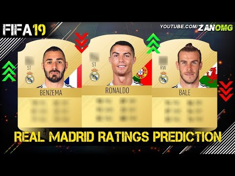 FIFA 19 | REAL MADRID PLAYERS RATING PREDICTION!! | FT. RONALDO, BALE, BENZEMA…etc