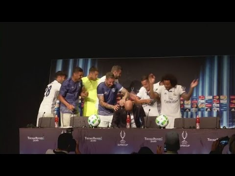 Real Madrid players hijack Zidane press conference