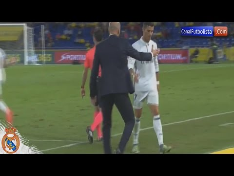 Cristiano Ronaldo Angry Reaction to Zidane Substitution ~ Las Palmas vs Real Madrid 2:2 La Liga