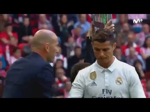 "Cristiano Ronaldo to Zidane SUBSTITUTION:""Why Me?FUCK!"" ~ Athletic Bilbao vs Real Madrid 1:2"