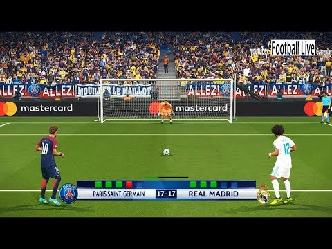 PES 2018 | PSG vs Real Madrid | UEFA Champions League (UCL) | Penalty Shootout