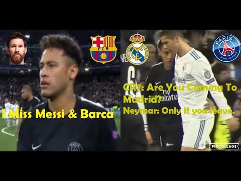 PLAYERS REACTION TO REAL MADRID VS PSG 3-1 2018 FT. RONALDO & NEYMAR