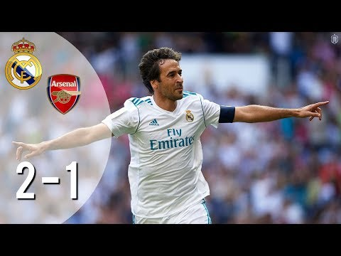 Real Madrid Legends vs Arsenal Legends 2-1 Highlights 03/06/2018