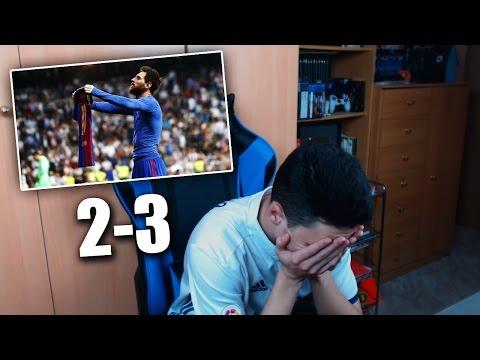 REACCIONES DE UN HINCHA Real Madrid vs Barcelona 2-3 CLASICO 2017
