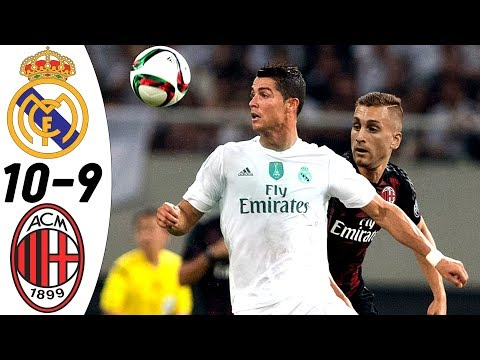 Real Madrid vs AC Milan 10:9 – All Goals & Highlights RESUMEN & GOLES (30/07/2015) HD