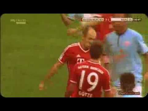 Bayern Munich vs Mainz 4:1 Alle Tore, Goals Highlights résumé Du match || Bundesliga 19/10/2013||