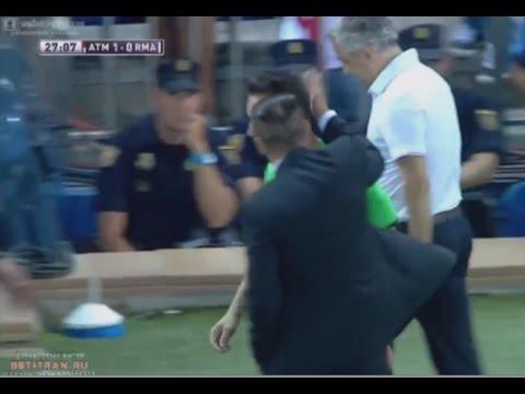 Atletico Madrid vs Real Madrid Diego Simeone Slap vs Referee — [23.08.2014]