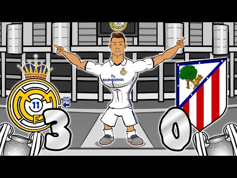 3-0! Real Madrid vs Atletico Madrid – RONALDO HAT-TRICK! (UEFA Champions League Semi-Final Parody)