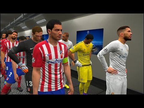 PES 2016 UEFA Champions League Final † Real Madrid vs Atletico Madrid Gameplay