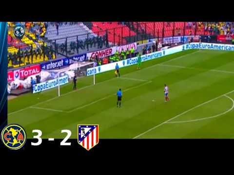 Resumen América vs Atlético de Madrid 3-2 Copa Euroamericana 2014