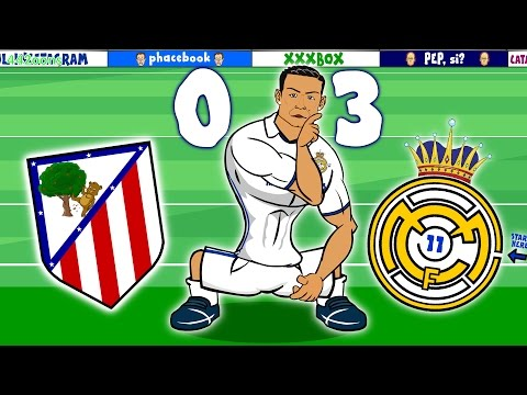 RONALDO HAT-TRICK! Atletico Madrid vs Real Madrid 0-3 (Madrid Derby Parody 2016)
