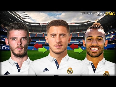 Top 10 Real Madrid Possible Summer Transfers | Ft. De Gea, Aubameyang, Hazard…etc