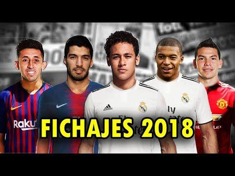FICHAJES 2018 | SUAREZ, NEYMAR, MBAPPE, HERRERA, LOZANO | Real Madrid, Barcelona, PSG,Manchester
