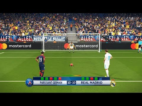 PSG vs REAL MADRID | UEFA Champions League – UCL | Penalty Shootout | PES 2018 Gameplay PC