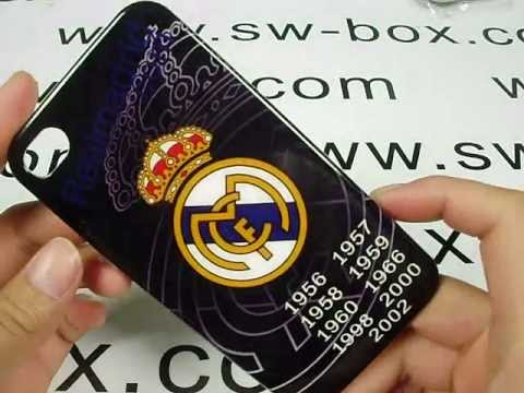 Real Madrid Logo iPhone 4 Hard Case Cover – Black