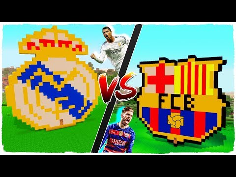 👉 Casa de REAL MADRID vs casa de F.C. BARCELONA – MINECRAFT
