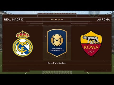 Real Madrid Vs Roma – Int.Champions Cup 2018 | PES 2018 Patch [Giù]