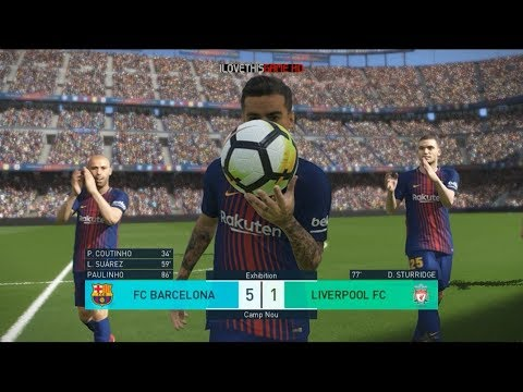 Philippe Coutinho Debut for Barcelona I PES 2018 Full Match Gameplay