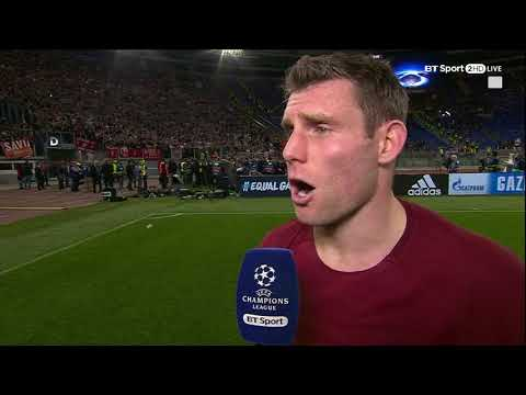 """I might stretch to a Ribena!"" 😂 James Milner's priceless reaction after Liverpool v Roma"