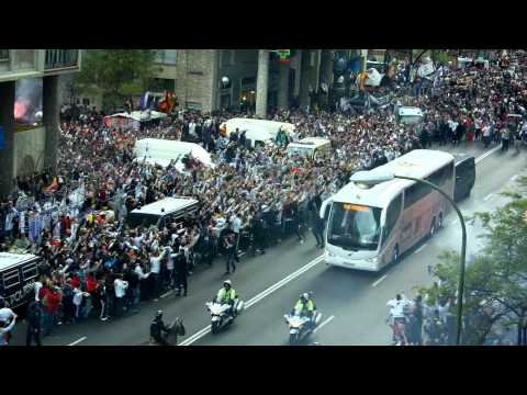 Real Madrid-Bayern Munich: llegada al Bernabéu / Real Madrid arrive at the Bernabeu