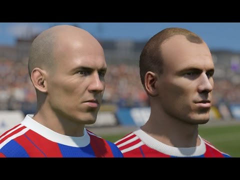 FIFA 15 vs PES 2015 Head to Head Faces – Bayern Munich