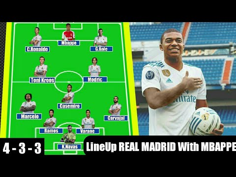 How REAL MADRID Potential Lineup With MBAPPE ? Deal £ 160,00 M ? #RUMOUR
