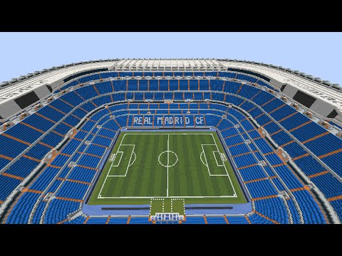 Minecraft – MEGABUILD – Santiago Bernabéu (Real Madrid CF) + DOWNLOAD  [Official]