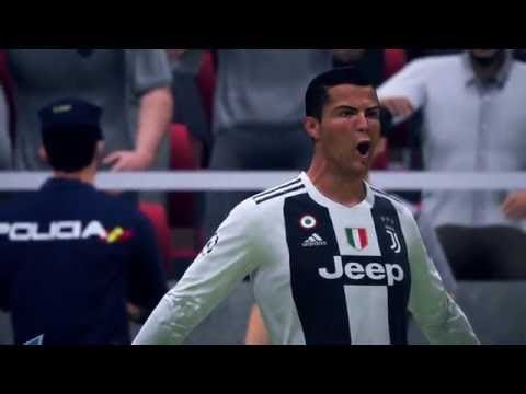 FIFA 19 CRISTIANO RONALDO  CHAMPIONS LEAGUE MATCH GAMEPLAY – PSG Vs JUVENTUS  CR7