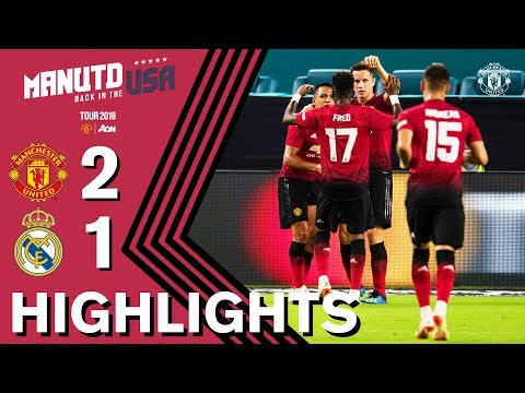HIGHLIGHTS | Manchester United 2-1 Real Madrid | Tour 2018 presented by Aon