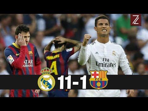 Top 5 Partidos donde Real Madrid Humilló al FC Barcelona