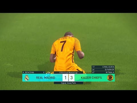 PES 2018 ACTION KAIZER CHIEFS TAKES ON REAL MADRID(SEPEDI COMMENTARY)