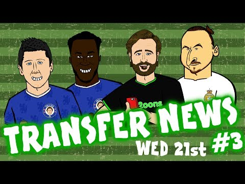 TRANSFER NEWS #3! (Lewandowski to Chelsea? Man Utd? Zlatan to Real Madrid? Lukaku to Chelsea?)