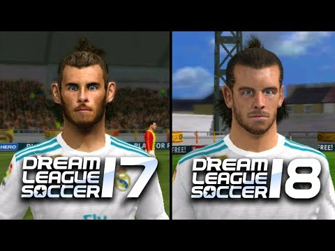Dream League Soccer 17 vs Dream League Soccer 18 | Real Madrid | Face Comparison