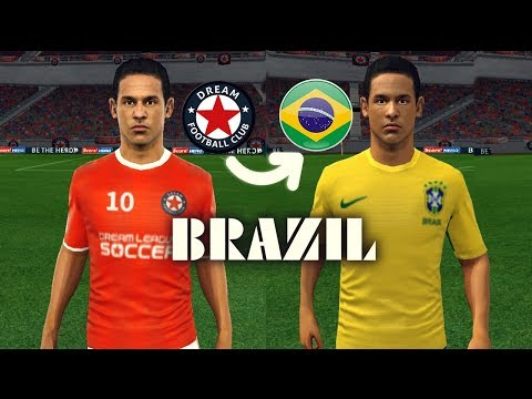 Create Brazil Team ★ Kits Logo & Players ★ Dream League Soccer 2018