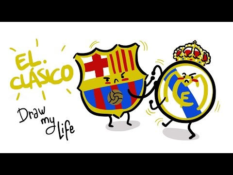 LA HISTORIA DE LOS BARCELONA-REAL MADRID  – Draw my Life