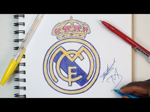 How To Draw The Real Madrid Logo – Using Ballpoint Pens